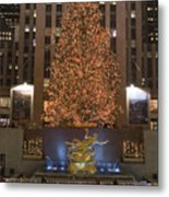 Rockefeller Center And The Famous Metal Print