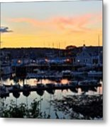 Rockport Harbor Sunset I Metal Print