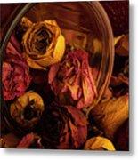 Roses Spilling Out Of Vase Metal Print