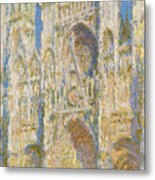 Rouen Cathedral, West Facade, Sunlight Metal Print