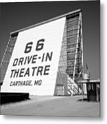 Route 66 - Drive-in Theatre Metal Print