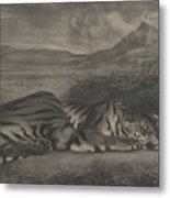 Royal Tiger Metal Print