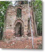 Ruins Of The Baroque Chapel Of Saint Mary Magdalene Metal Print