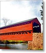 Sachs Bridge - Gettysburg Metal Print