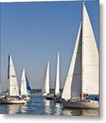 Sailboat Race Metal Print
