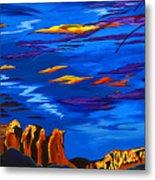 Sailing Sedonas Sky Metal Print