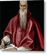 Saint Jerome As Scholar Metal Print