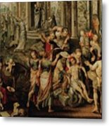 Saint Paul And Saint Barnabas At Lystra Metal Print