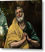 Saint Peter In Tears Metal Print