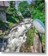 Salmon Hatchery Creek In Mountains Of Alaska Metal Print