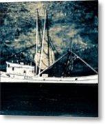 Salty Shrimp Boat Metal Print