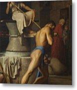 Samson And The Philistines Metal Print