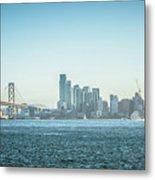 San Francisco California City Skyline At Spring Sunset Metal Print