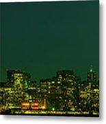 San Francisco Nighttime Skyline Metal Print