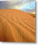Sand Dune At Great Sand Hills In Scenic Saskatchewan Metal Print