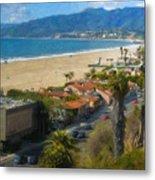 Santa Monica Ca Steps Palisades Park Bluffs  Metal Print