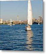 Seattle Sailing Metal Print