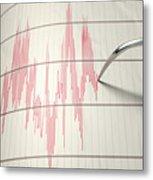 Seismograph Earthquake Activity Metal Print