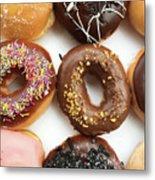 Selection Of Doughnut Metal Print
