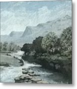 Serenity - Tranquil Stream Metal Print