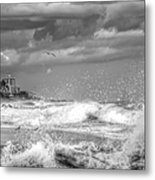 Serious Ocean Metal Print