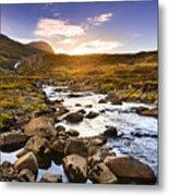 Seydisfjordur Fjord Valley Metal Print