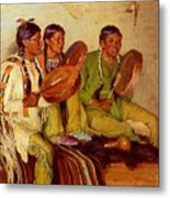 Sharp Joseph Henry Hunting Song Taos Indians Joseph Henry Sharp Metal Print