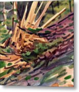 Shattered Pine Metal Print