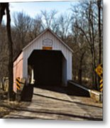 Sheards Mill Covered Bridge - Bucks County Pa Metal Print