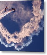 Skydivers Metal Print
