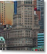 Skyline Of Manhattan - New York City Metal Print