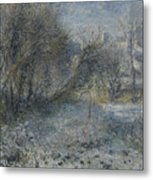 Snow Covered Landscape Metal Print