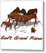 Soft Grand Piano  Metal Print