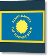 South Dakota Flag Metal Print
