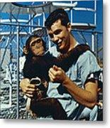 Space: Chimpanzee, 1961 Metal Print