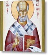 St Nicholas Of Myra Metal Print