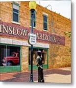 Standing On The Corner - Winslow Arizona Metal Print