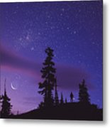 Starry Sky Metal Print by David Nunuk