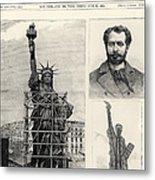 Statue Of Liberty, 1885 Metal Print