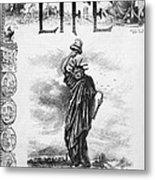 Statue Of Liberty Cartoon Metal Print