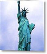 Statue Of Liberty Metal Print by Sami Sarkis