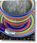 Steaming Coffee  Metal Print