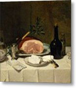 Still Life With Ham Metal Print