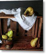 Still-life With Pears Metal Print