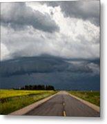 Storm Clouds Prairie Sky Metal Print