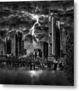 Storm Over Frankfurt Metal Print