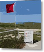 Storm Warning On The Atlantic Ocean In Florida Metal Print