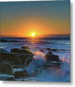Sunrise And The Sea Metal Print
