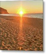Sunrise Beach Seascape Metal Print