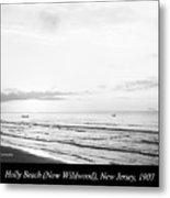 Sunrise, Holly Beach, Now Wildwood, New Jersey, 1907 Metal Print
